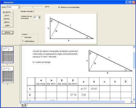Delphi calculs trigonom trie for Marche d angle calcul